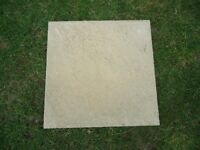 20 Buff Coloured Riven Surface Paving Slabs