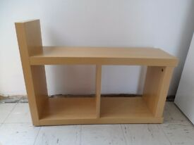 Beech effect sofa side tables