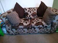 Sofa and love chair