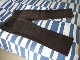 Brand new John Lewis Mens brown cords - unworn - 40 inch waist regular leg