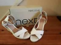 Next Size 7 cream open toe