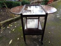 Tea Trolley with drop leaf table sides