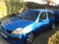 Renault Clio 52 plate 1.4 16v, 5 months MOT 81000 miles £550