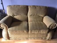 Beige/Light Brown 2 seater sofa