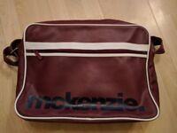 McKenzie Jimmy Messenger Bag - White and Burgundy