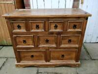 £85 pine chest of drawers 9 drawer farmhouse shabby chic project