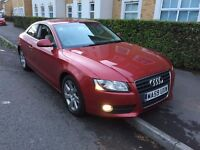 2009 AUDI A5 2.0 TDI DIESEL MANUAL COUPE RED MOT EXCELLENT DRIVE NOT BMW 3 SERIES CONVERTIBLE A4 CLK