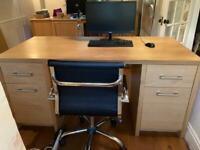 Solid oak, bespoke desk