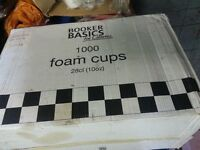 10oz new insulated polystyrene catering cups and lids over 1200