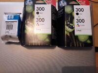 HP 300 2 BLACK 3 TRI COLOUR BRAND NEW REASON FOR SALE PRINTER BROKE