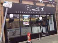 Experienced Barista Wanted for newly opened cafe. Flexible hours available.