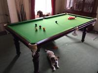 Snooker, pool, dining table