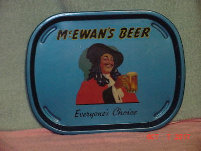 VINTAGE McEWAN'S BEER BAR PUB METAL ALUMINUM SERVING TRAY Man Cave England