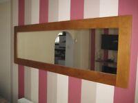 Solid oak wall mirror from Oak Furnitureland
