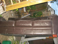 we are downsizing have 2 .. 3 bed sofa`s one must go moved it to rear patio