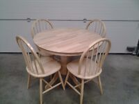 Unused dining table and four chairs, excellent, can deliver. Bargain.