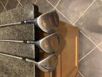 **£30** Left Handed Wilson ProStaff Offset 3 Wood, 5 Wood and 7 Wood
