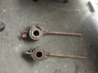 Pair Of Large Industrial Pipe Threaders