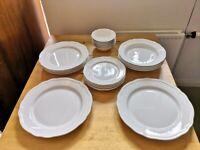 Ikea Upplaga 20 - piece white dining / dinner / plate set £18