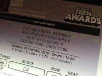 Teen awards tickets 23rd october