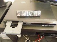 Panasonic dvd player and recorder plus built in 160 gb freeview recorder