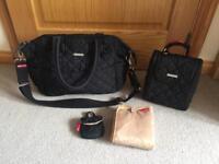 Black Storksak changing bag