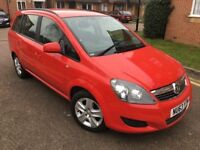 2013 Vauxhall Zafira 1.6 i VVT 16v Exclusiv 5dr - 7 SEATER - Red - Low Mileage on 33,000
