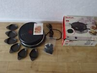 new - never used - Tefal hot plate with six small pans - tefal jour de fete