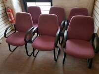 Chairs - Quality Purple Fabric and Black Metal Visitors Chairs. Choice of 8