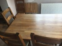 Wood Extendable Dining Table Seats 8-10 with Chairs and Bench