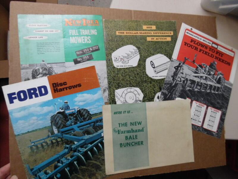 1950s-1960s Farm Equipment Brochure Lot Allis-Chalmers Ford Minneapolis Moline