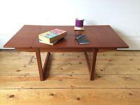 Small Mid Century Teak Drop Leaf Coffee Table 2 of 2 available