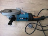 "AS NEW MAKITA 9"" ANGLE GRINDER/CUTTER + diomond disc"