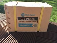 NEW GYPROC drywall timber SCREWS 5 BOXES inside 60mm X 2500