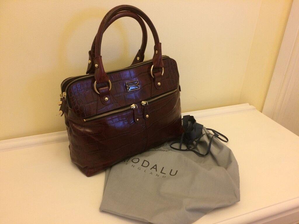 53f9cf1d98 Designer Handbag - Modalu Pippa Classic Grab Burgundy