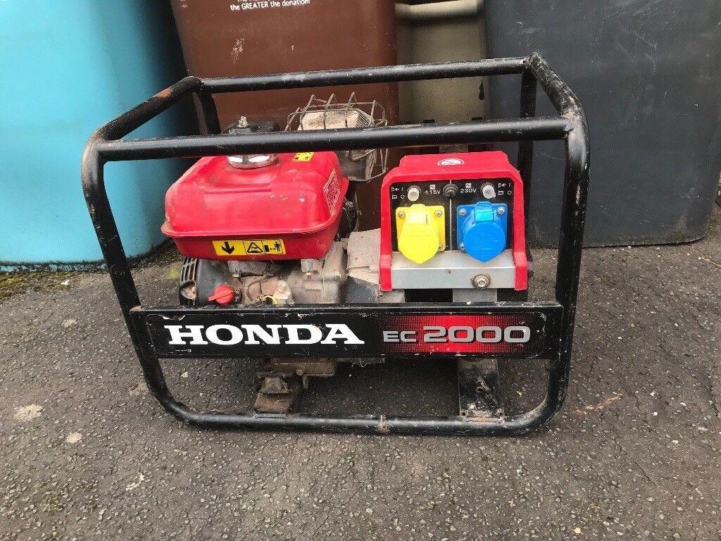 Nearly new generator - Honda EC2000