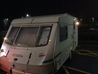 1998 eldiss hurricane 2 berth ideal site hut or workman's caravan