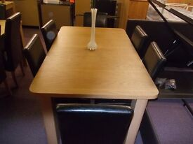 New swanley extending dining table +6 black chairs