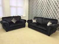 Laurence Llewelyn-Bowen Scarpa Fabric Back 3-Seater & 2 Seater Sofa's RRP £1049
