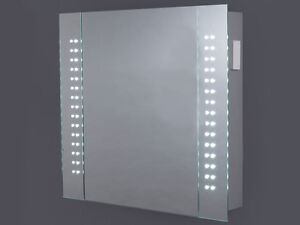 rowan led illuminated bathroom cabinet sensor shaver demister 100 52