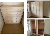 Large wardrobe and chest of draws vgc can deliver