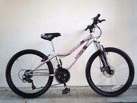 """(2202) 24"""" 13"""" APOLLO KRYPT GIRLS MOUNTAIN HARDTAIL BIKE BICYCLE; Age: 8-12; Height 130-150 cm"""
