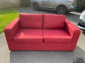 Red Sofa Bed - Lovely Condition
