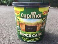 Cuprinol Fence Paint Rich Oak - 10 Litres (Unused)