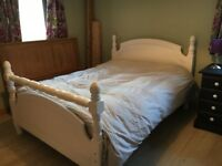 Solid Heavy Pine Double Bed Frame 4'6''
