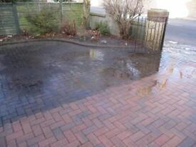 Patio & driveway pressure cleaning
