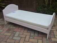 Girls Mothercare Toddler Bed & Mattress In Excellent Condition