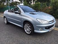 PEUGEOT 206 CC ALLURE 1.6 HDI DEISEL , FULL BLACK LEATHER, P/X WELCOME !!