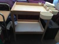 Ikea changing table sniglar and onsklig storage bins