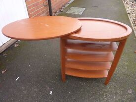 OCCASIONAL TABLE WITH MULTI LEAVES, UNUSUAL DESIGN, VERY PRACTICAL.